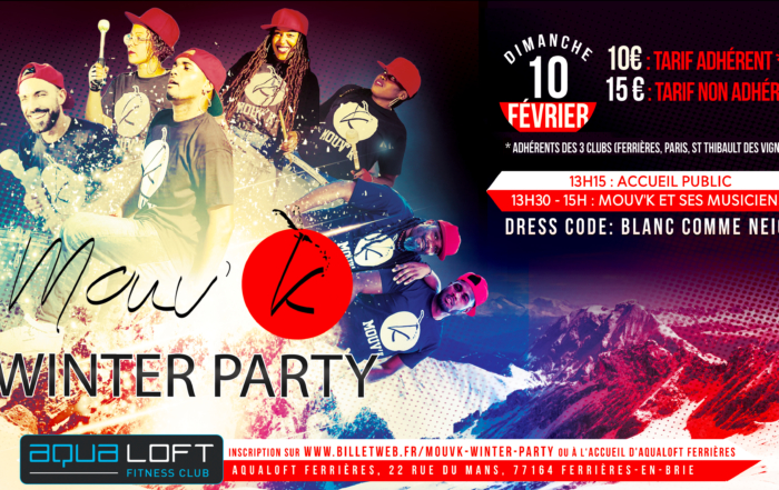 Mouv k winter party flyer