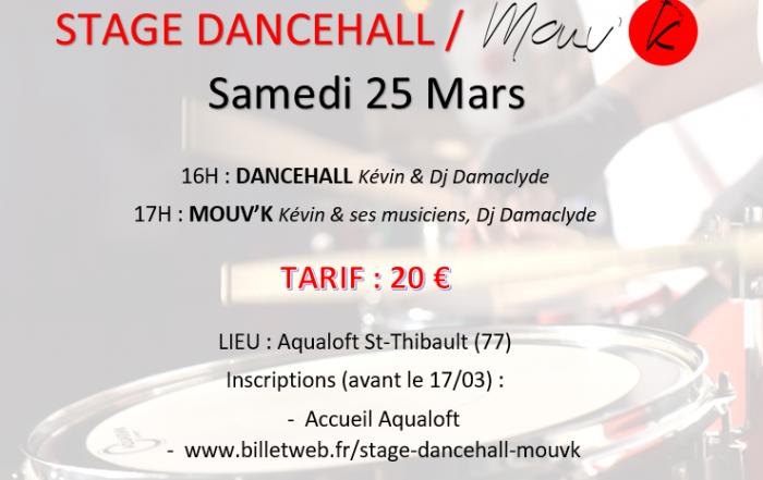 STAGE DANCEHALL MOUVK 25 MARS AQUALOFT